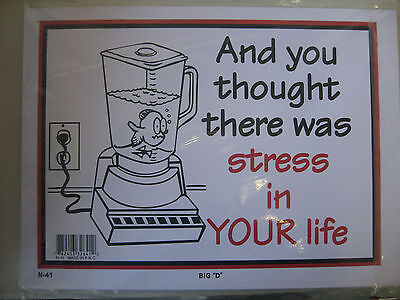 """Funny Humorous Plastic Sign TODAY IS THE TOMORROW.....12/""""  X  9/"""" #32660"""