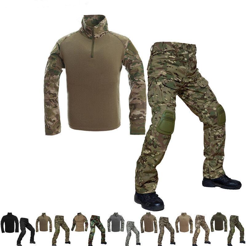 MEN Tactical Combat Uniform Sets Mens Shirt Cargo  Army Pants Military Shirt 2018  honest service