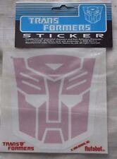 Vintage 2000 Licensed Hasbro Takara Transformers Autobot Sticker Red 5 inch
