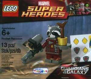 LEGO-SUPER-HEROES-ROCKET-RACCOON-MINIFIGURE-POLYBAG-5002145-RETIRED-NEW-LA020