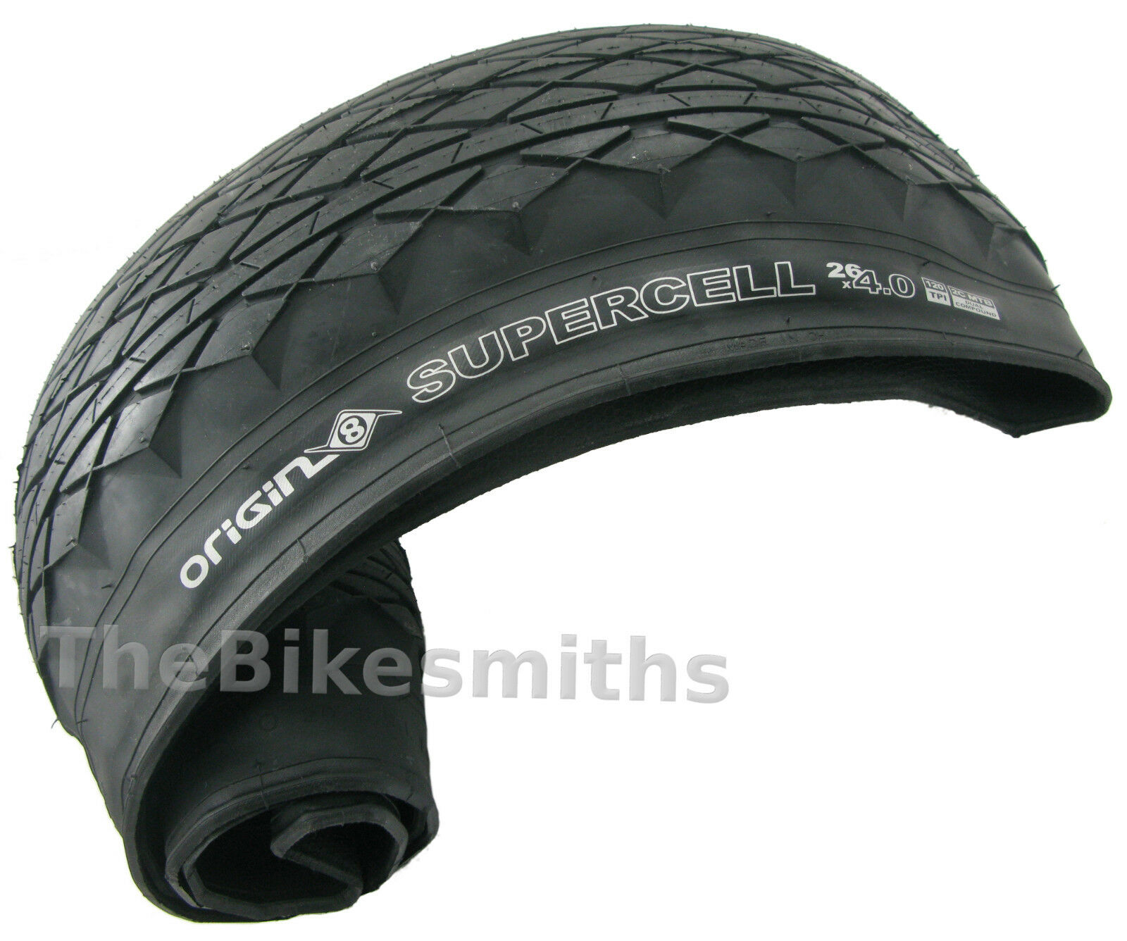 Origin-8 Supercell Tire Or8 Supercell 26x4.0 Wire Bk//bk