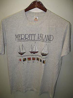 Di Carattere Dolce Merritt Island Florida Usa Space Coast Vela Barca Nave Vintage 1980's T Shirt Adottare La Tecnologia Avanzata