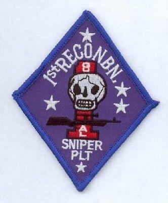 SchöN Us Marine Corps 1st Recon Sniper Platoon Usmc Army Uniform Patch Aufnäher Kataloge Werden Auf Anfrage Verschickt