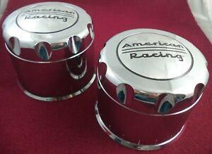 American Racing Wheels Chrome Custom Wheel Center Caps Set of 2 # 1425500010