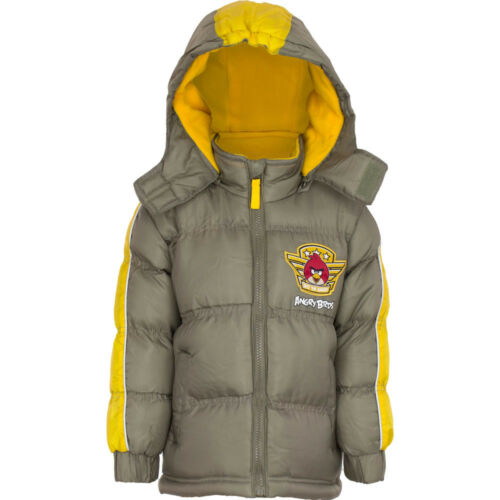 Angry Birds winter coat fleece lined puffer jacket new boys licensed 3-10 years