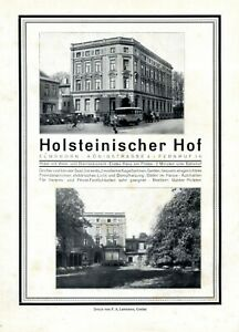 Hôtel Holsteinischer Cour Dans Elmshorn Xl Publicité 1930 Publicité Roi Segment-afficher Le Titre D'origine 5zwjspa4-10115810-976187666