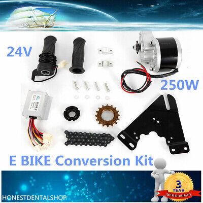 "Electric Bike Conversion Kit 24V 250W DC Motor Controller For 16-28/"" Common Bike"