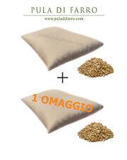 n°2 cuscini naturali in pula di Farro biologica Cotone/Canapa 72x42cm ortopedico