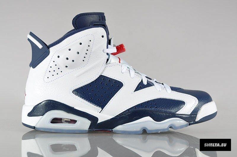 2012 Nike Air Jordan 6 VI Retro Olympic Size 11.5. 384664-130 1 2 3 4 5
