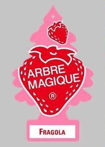 10-ARBRE-MAGIQUE-FRAGOLA-DEODORANTE-PROFUMO-PER-AUTO-E-CASA