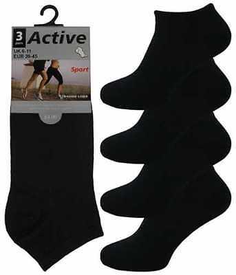 12 Da Uomo Active Sport Cotone Ricco Trainer Calzini Liner/nero/uk 6-11-mostra Il Titolo Originale