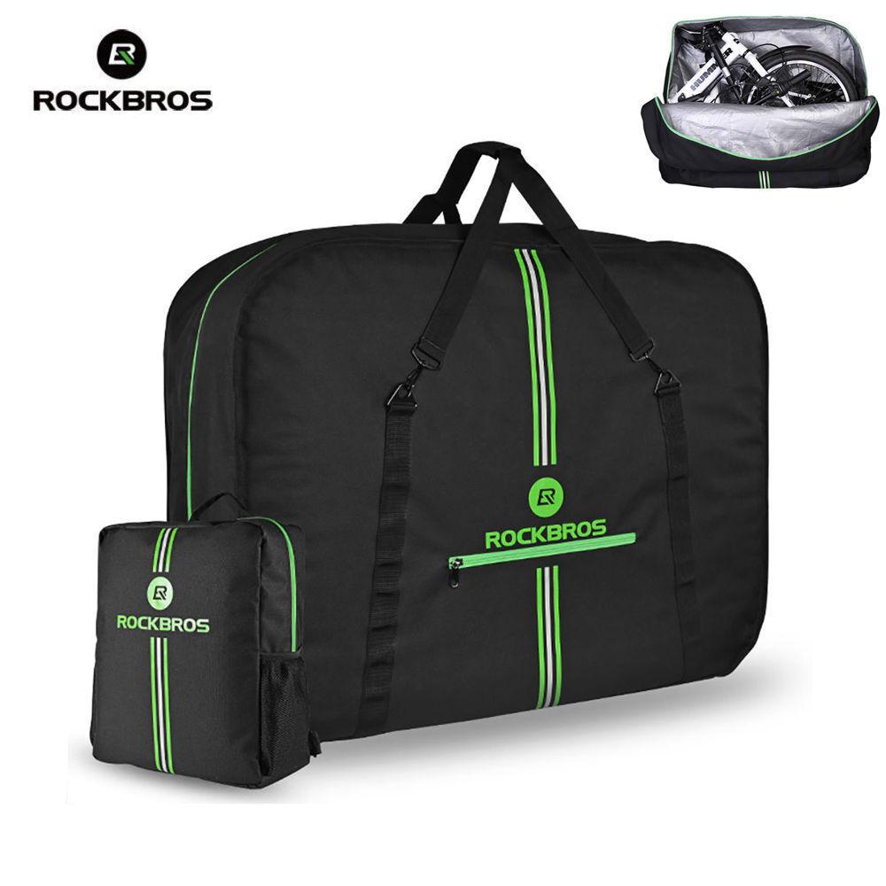 ROCKBROS Bici Bolsa De Transporte easliy bolsa de transporte con bolsa de almacenamiento para bicicleta plegable