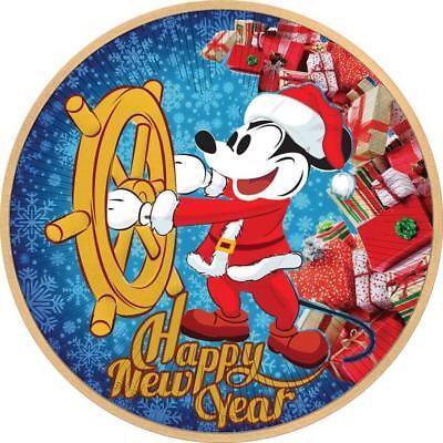 2017 Nieu 2 $ Steamboat Willie Happy New Year Santa Mickey 1 Oz 999 Coin