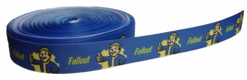 "Fallout PIP BOY 1/"" Repeat Ribbon Sold By The Yard USA Seller"