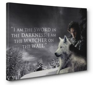 Image Is Loading Game Of Thrones Jon Snow Watcher On The