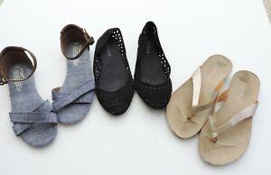 Women-039-s-Bundle-3-Sandals-Toms-Spirit-amp-H-amp-M-Size-5-6