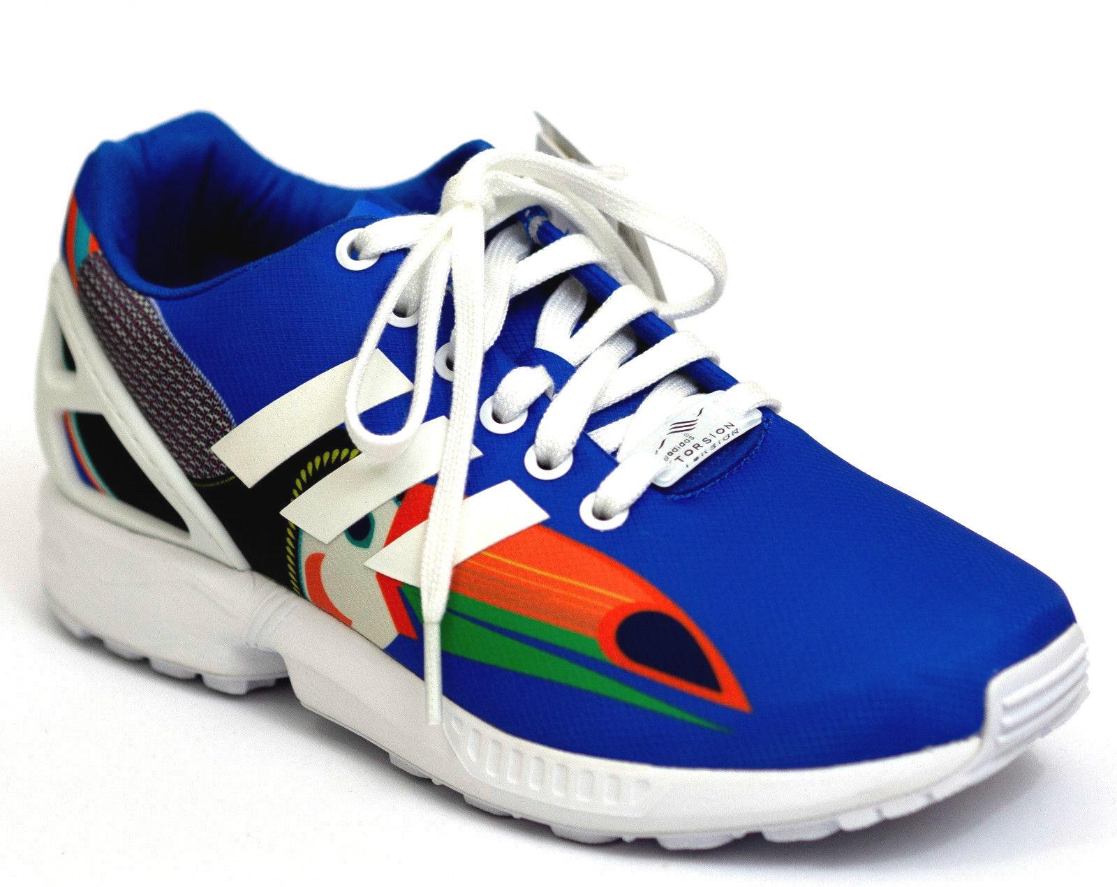 Adidas Originals ZX FLUX W Torsion 38 NiedrigTop Sneaker Turnschuhe Blau Schwarz NEU