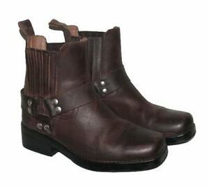 WOW!!! Biker- Stiefeletten / niedrige Herren- Stiefel / Boots in braun Gr. 41