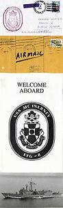 Aimable Uss Mcinerney Ffg 8 Frégate Lance-missiles Naval Photo Couverture Bienvenue à Bord-afficher Le Titre D'origine Une Performance SupéRieure