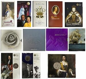 5-FIVE-POUND-BRILLIANT-UNCIRCULATED-COIN-PACKS-PRESENTATION-PACKS-ROYAL-MINT