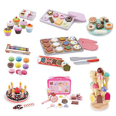 Lebensmittel Holz Süßes Kekse Cupcakes Spielzeug Zubehör Kinderküche Kaufladen | eBay
