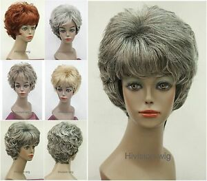 Short-Curly-Women-Ladies-Daily-Hair-Fluffy-wig-Hivision-5-colors