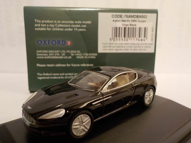 Aston Martin Db9, Black, Model Cars, Oxford Diecast