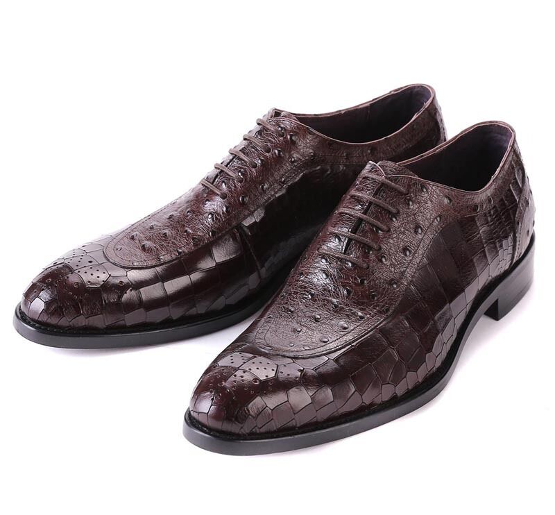 New Men's shoes Dress Formal Cow Leather Lace up Black Brown R37-10