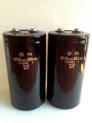 1PCS HITACHI HCG 600V 4700UF Screw electrolytic capacitor 90X130mm 105℃#G5674 XH