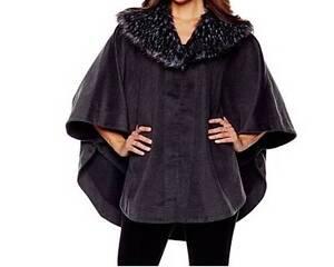 Women-039-s-Winter-Fall-Spring-Faux-fur-Cape-Wrap-poncho-shawl-plus-L-XL-1X-2X-3X-4X