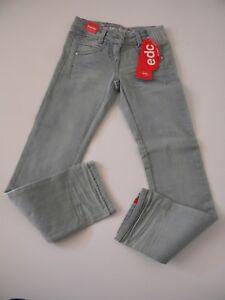 EDC-by-Esprit-pantalon-jeans-bleu-cl-stretch-taille-basse-ajustable-152cm-12-ans