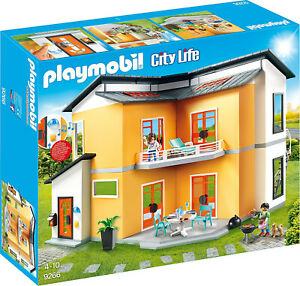 PLAYMOBIL-Modern-House-Building-Set-Toys-Games-New