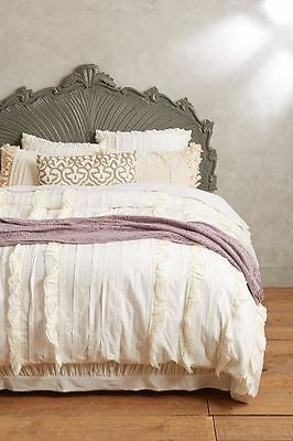 Anthropologie 💕 TIERED RUFFLE 💕 Queen Duvet Cover NWT actual pic 👀