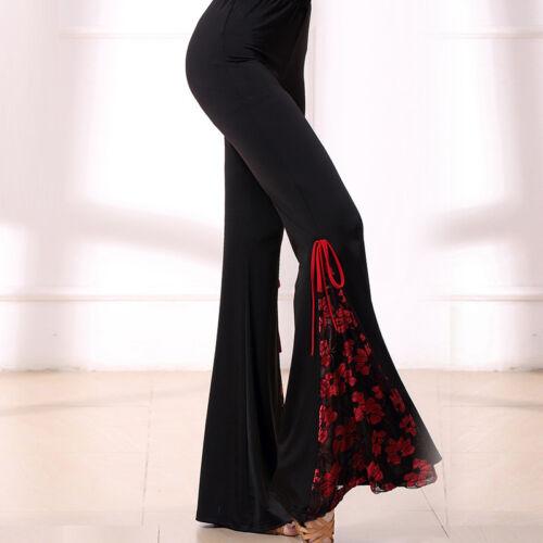 Latin Jazz Ballroom Square Dance Pants Tribal Belly dance Pants#W465 Black