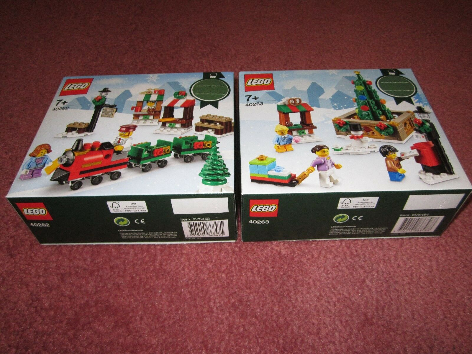 LEGO CHRISTMAS TRAIN RIDE & LEGO CHRISTMAS TOWN SQUARE 40262 & 40263 - NEW BOXED