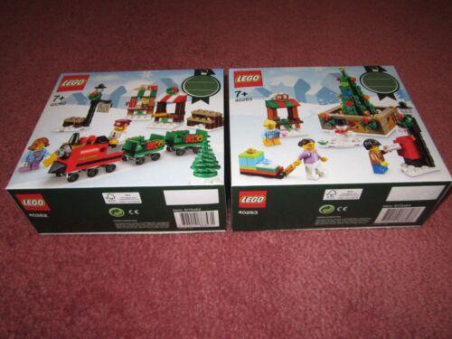Baukästen & Konstruktion LEGO CHRISTMAS TRAIN RIDE & LEGO CHRISTMAS TOWN SQUARE 40262 & 40263 LEGO Bau- & Konstruktionsspielzeug NEW/BOXED