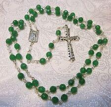 Jade Green  Gorgeous Handmade Catholic Rosary  #12-20-11 green