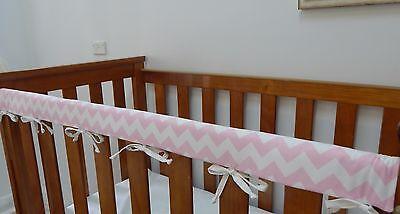 Cot Rail Cover Grey Dots on Aqua Cotton Crib Teething Pad x 1