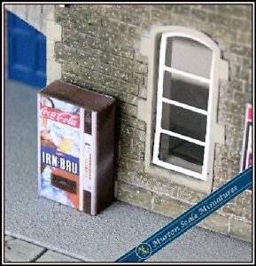OO-GAUGE-IRON-BRU-DRINK-VENDING-MACHINE-HORNBY-MODEL-RAILWAYSTATION-LAYOUT-00
