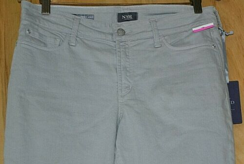 8 OR 14 NEW Convertible Ankle Color Light Gray Jeans NYDJ ALINA  Size 0