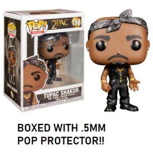 Funko-Pop-Rocks-2Pac-Tupac-Shakur-Panuelo-Figura-Vinilo-con-5MM-Protector