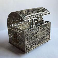 boite filigrane argent massif 70g coffre box silver ancien