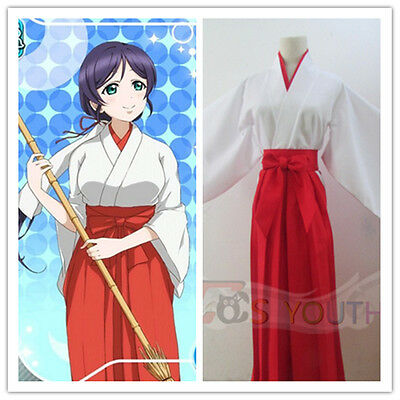 Love Live Lovelive Nozomi Tojo Miko Witch Kimono Cosplay Costume+Headband