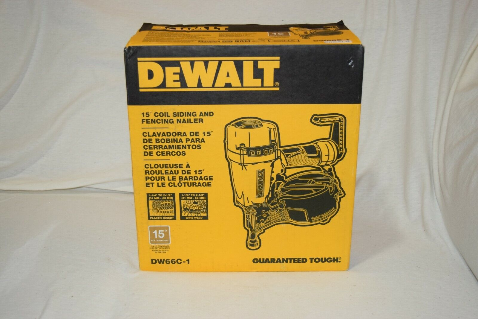 DEWALT DW66C-1 Pneumatic 15-Degree Coil Siding and Fencing Nailer - NEW & SEALED. Buy it now for 309.99