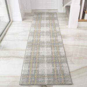 Ocre gris Hall coureursScandi Texturé Géométrique TapisLong Couloir coureurs
