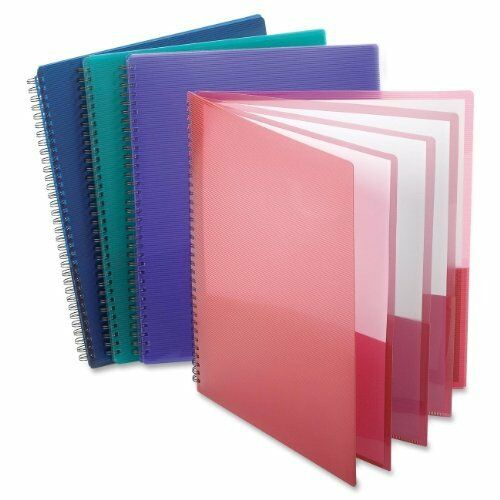 "Oxford Wire Binding Pocket Folder - Letter - 8.50"" X 11"" She"