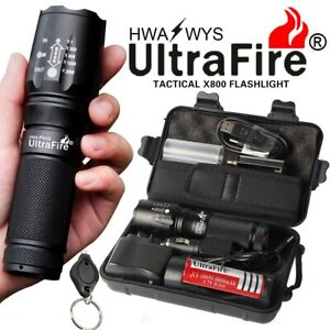Ultrafire-Flashlight-100000LM-T6-LED-Tactical-Military-Torch-Zoomable-Headlamp