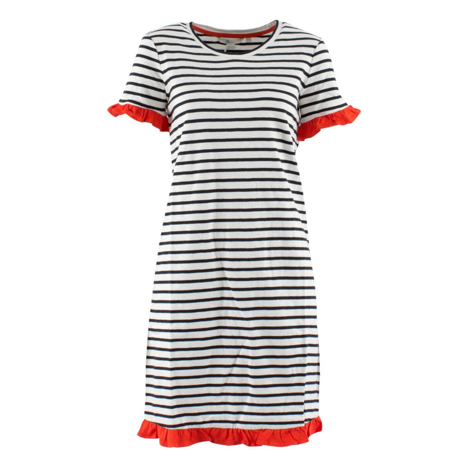BODEN Direct Damen Kleid J0205 Gestreift Dunkelblau Weiß   36 R   Shirtkleid