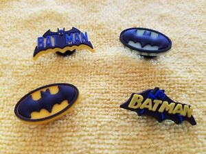 BATMAN shoe charms//cake toppers! FAST USA SHIPPING! Lot of 4!