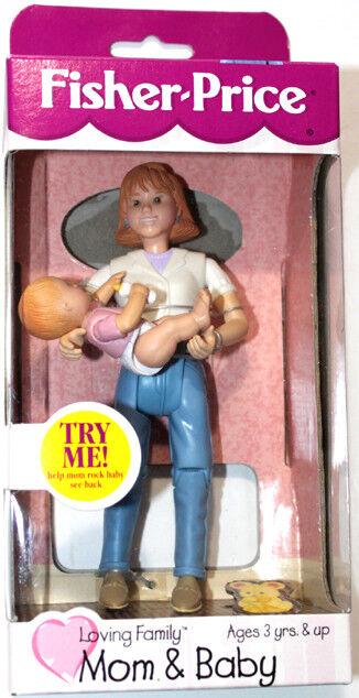 Fisher Price Loving Family la madre y el bebé Muñeca Casa Juguete Figuras 1999 Mattel MOC